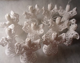 SPECIAL OFFER - Crochet Angels - set of 10 White Angels