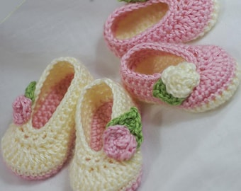 Ballet Slippers Crochet Pattern for Baby ROSEY BALLET SLIPPERS digital