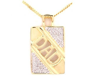 Gold plated Necklace with Dad pendant