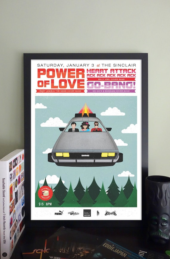 Power Of Love Gig Poster //The Sinclair, Cambridge, MA