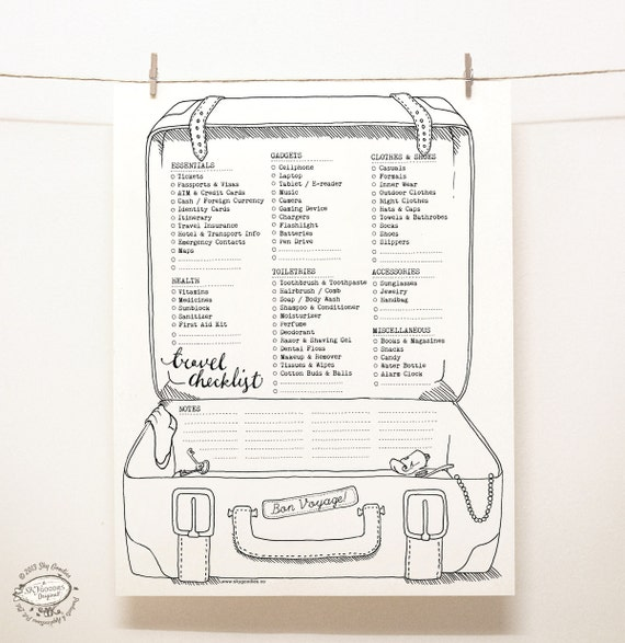 This Would Be Cute To Change Into The Welcome Letter To: COMBO SAVER Travel Planners Set Of 2 Packing Checklist