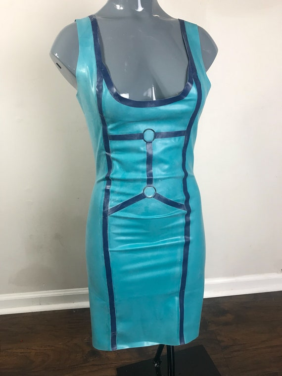 Latex harness style dress