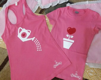 family t shirt watering cans of love. Mommy and me. all family  (2 t shirts)