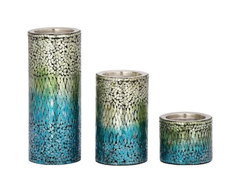 Metal Mosaic Candle Holders / Metal candle holder / Mosaic Pattern/Wedding Decor