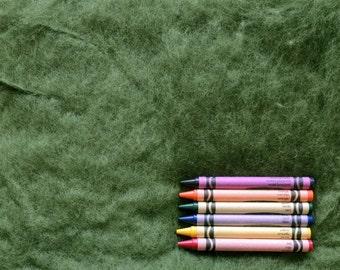 MAORI WOOL BATTING - True Ivy - wool fiber for needle felting and wet felting (approximately 1 ounce) - From Purple Moose Felting