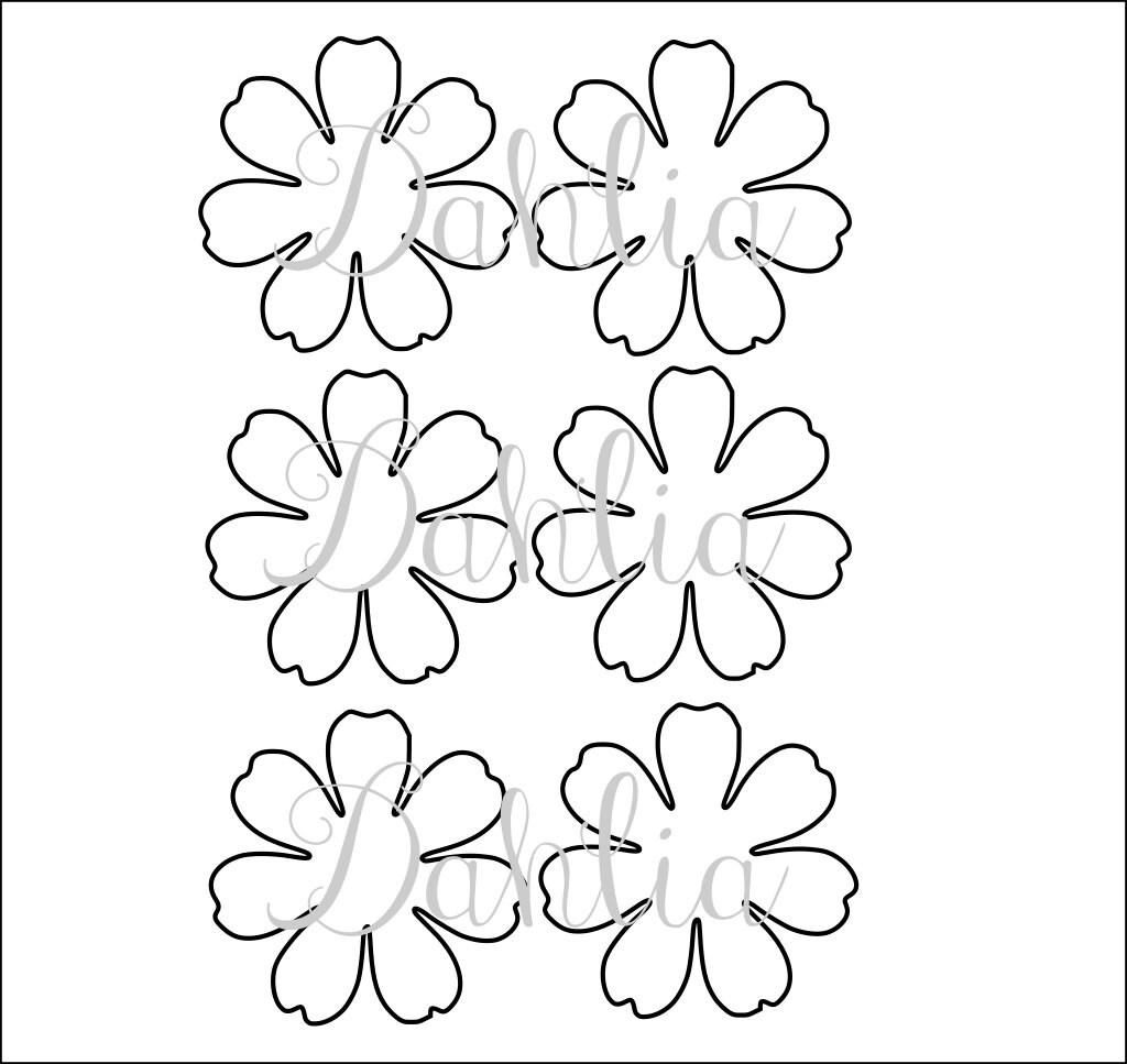 DIY druckbare Blume Vorlagen-PDF Blütenblatt Vorlagen DIY