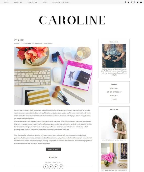 new premade blogger template clean blog design black. Black Bedroom Furniture Sets. Home Design Ideas