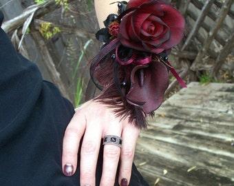 Gothic Wrist Corsage