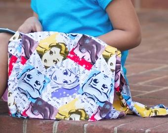 Princess Tote Bag, Girls Messenger Bag, Princess Messenger Bag, Girls Tote Bag, Toddler Bag, Disney Tote Bag, Disney Messenger Bag, Girls