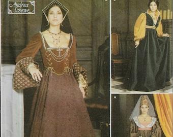 """Simplicity 9929    """"Renaissance""""  Costume Gowns, Hats     Size 14-20    Uncut"""
