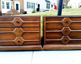 American of Martinsville Mid-Century Modern Night Stands or End Tables