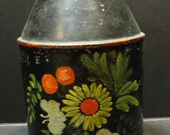 vintage Kreamer folk art Dutch Toleware Americana painted tin milk can primitive home decor