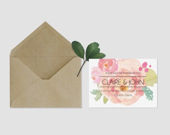 Floral Save the Date Printable