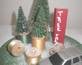 Bringing Home the Tree Display ~ Sewer's Christmas ~ Christmas Truck ~ Farmhouse Christmas ~ Country Christmas ~ Christmas Mantel~