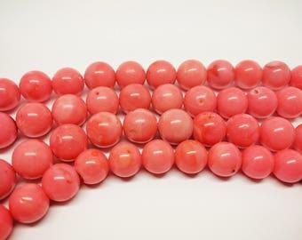 Pink Coral Beads Pink Beads Pink Coral Beads 12mm Natural Coral Beads Pink Beads for Jewelry Bracelet Beads Jewelry Beads Coral Sponge Beads