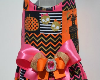 Dog Harness Vest - Pink Diva Halloween Dog Harness with Bling