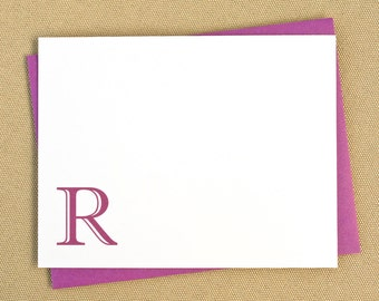 Personalized Flat Stationery Note Cards with Monogram / Personalized Stationery / Stationary with Traditional Monogram