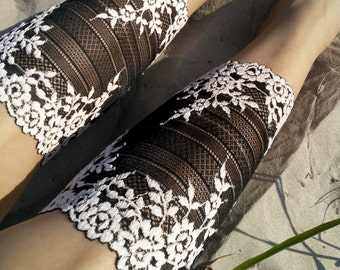 Lace Boot Cuffs, Womens Boot Cuffs, LaceToppers, Half Socks Cute, Black Lace Cuffs, Women Boot Socks, Gift Ideas