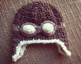 Crochet Avaitor Flight hat