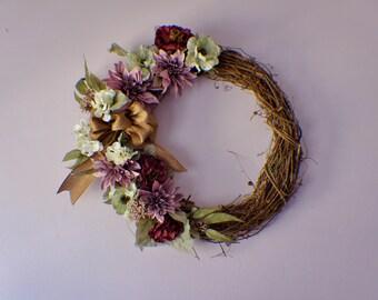 Front Door Wreath, Fall Wreath, Summer Wreath, Winter Wreath, Summer Wreath, Spring Wreaths, Dahlia and Eucalyptus Wreath, Year Round Wreath