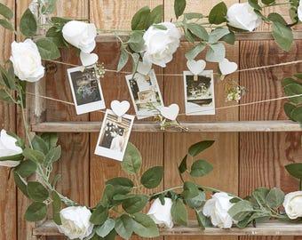 Decorative White Flower Garland ,Wedding Decorations, Home Decorations,  Party Decorations, Rustic Wedding