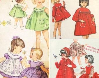 3 Vintage 1960's Toddlers' Dress Sewing Patterns UNCUT Helen Lee (0261)