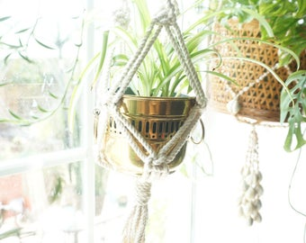 Brass Pot / Planter / Vase with Handles