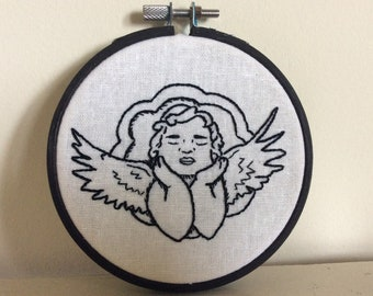 Sleeping angel embroidery kit