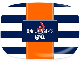 Personalized Platters Grill Master - Customized Melamine Platter