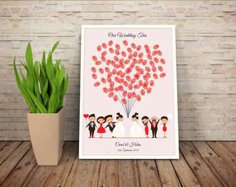 Wedding tree, Printable wedding tree, 2 brides, wedding tree balloons, Lesbian Wedding, Gay wedding, LGBT Wedding Tree, LBGT Wedding,