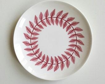 Beautiful red maxim plates by Bibi Berger for Gustavsberg