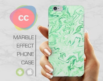 Green Marble - iPhone 8 Case - iPhone 7 Case - iPhone X, iPhone 8 Plus, 7, 6, 6S, 5S, SE Cases - Samsung S8, S7, S6 Cases - PC-350