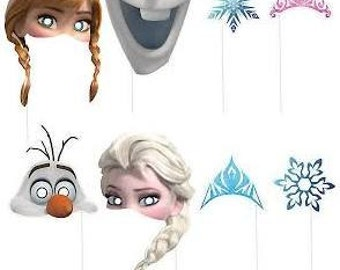 1/Frozen Photo Booths Props