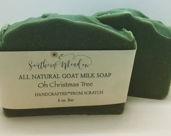 Goat Milk Soap, Oh Christmas Tree, On Sale!