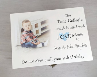 Gorgeous Personalised Time Capsule Box Printed With Your Own Photo Gift Box Memory Box Keepsake Box Memento