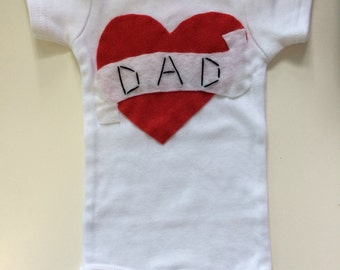 I Love Dad Baby Onesie