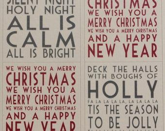 East of India Christmas Sticker Sheet - Christmas Carols x 30 - Craft / Scrapbooking