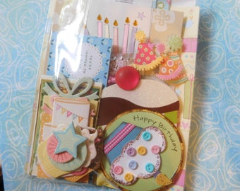 Bits and Pieces Scrap Pack Mini Paper Pack - Birthday Theme Ephemera Project Life