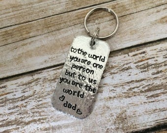 Personalized Hand Stamped Key Chain