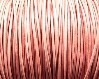 1mm Natural Leather Round Cord 42519 (5 meters), Jewelry Cording, Necklace Cord, Bracelet Cording, 1mm Cording, 1mm Leather Cord, Stringing
