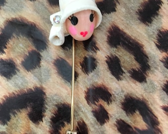 Vintage Flapper Girl style pin brooch