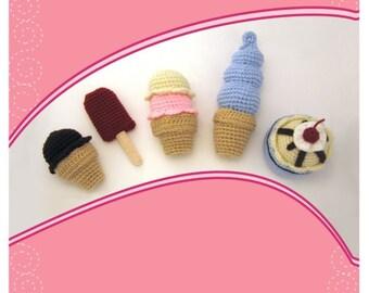 Amigurumi Ice Cream Crochet Pattern Collection PDF
