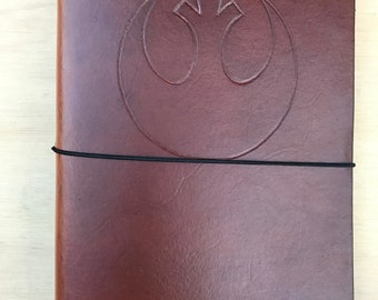 Leather Traveler's Style Journal/Notebook Refillable - Star Wars Rebel Style