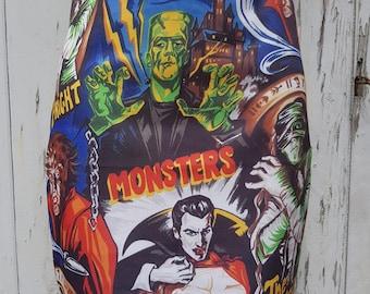 Horror Movie Mini Skirt - Size 8 10 12 14 16 - Vampire Werewolf Frankenstein