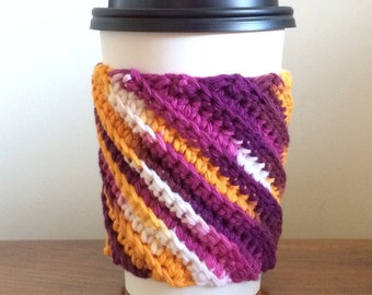 Crocheted Coffee Cozy - Cup Sleeve