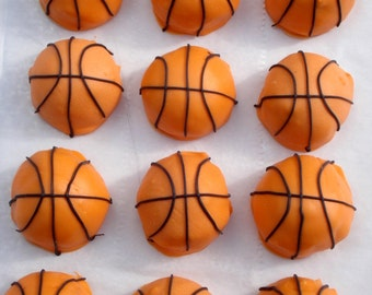 Cake Balls. Basketball Cake pop. Bitty Bites. College basketball. Gift idea. Gift for basketball fan. Gift for guy. Birthday gift.ONE dozen