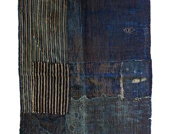 Boro Textile 1 Square | Hand-Revived by Sashiko Artists