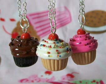 Classic Cupcake Necklace