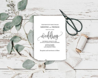 Rustic Invitation, Rustic Wedding, Kraft Wedding Invitation, Invitation Suite, Wedding Template, Wedding Printable, Vintage Wedding, BD-6022