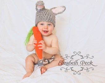 3 in 1 -- Baby Bunny Rabbit Costume & Photo Prop -- 3 Crochet Patterns in 1 INSTANT DOWNLOAD